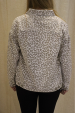California Dreaming Leopard Denim Jacket