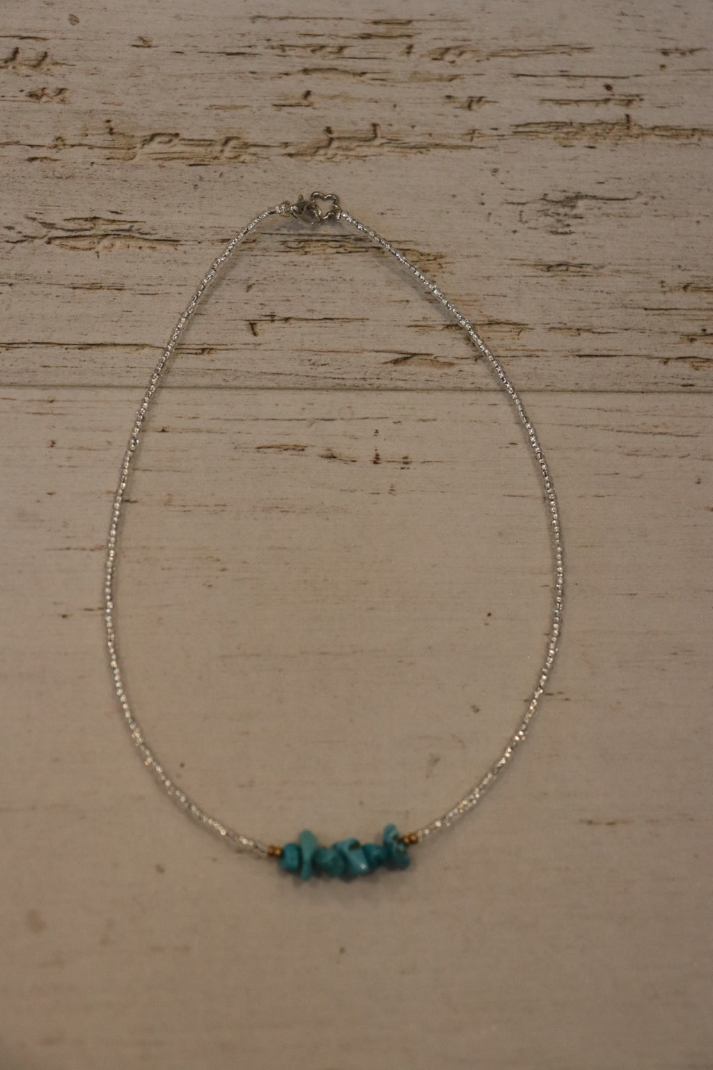 Turquoise Rocks Beaded Necklace