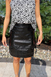 Shine Bright Faux Leather Skirt