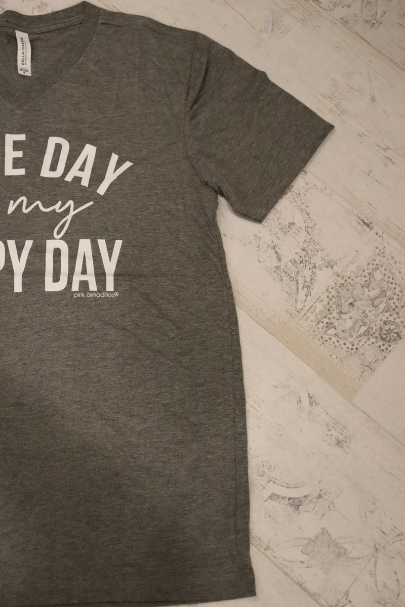 Game Day is My Happy Day Graphic Tee Top