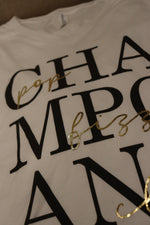 Pop, Fizz, Clink! Champagne Graphic Tee Top