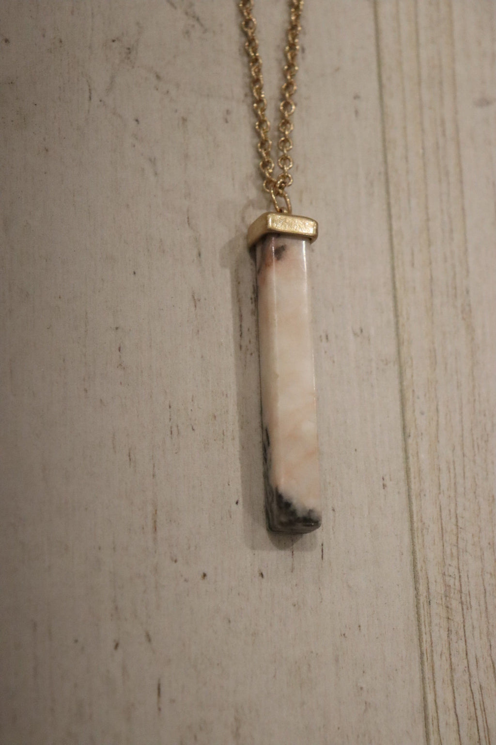 Emmy Stone Bar Necklace