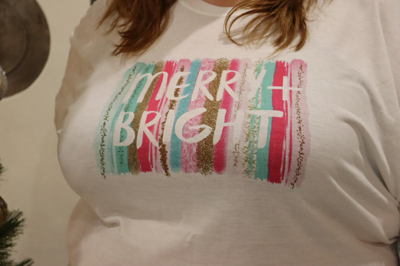 Lindsay Merry & Bright Plus Graphic Tee Top