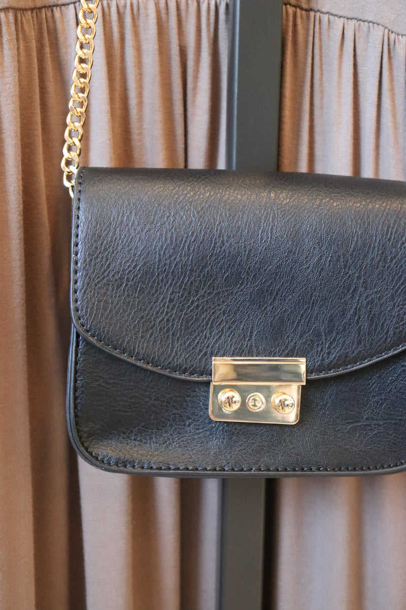 Carly Black Crossbody Bag