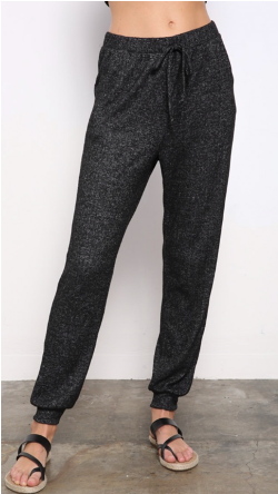 Charcoal Gray Heathered Joggers