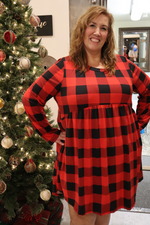 Buffalo Check Plaid Plus Dress