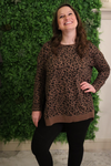 Cheetah Print Brown Weekender Top