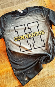 Hendersonville Commados Bleached T-Shirt