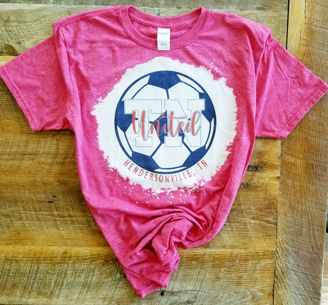 TN United Bleached Soccer Shirt