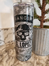 Load image into Gallery viewer, Army Ranger 20oz. Straight Sided Insulated Tumbler
