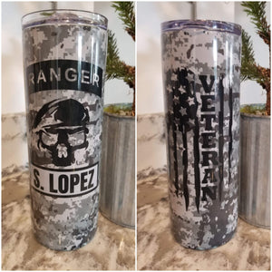 Army Ranger 20oz. Straight Sided Insulated Tumbler