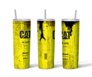 CAT Distressed 20oz. Straight Sided Insulated Tumbler