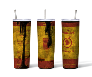 Indian Motorcycle Oil Distressed 20oz. Straight Sided Tumbler
