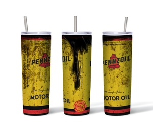 Penzoil Motor Oil 20oz. Skinny Straight Sided Insulated Tumbler
