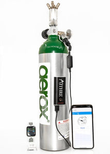 Aithre Altus Meso Portable Oxygen Tank Pressure Monitor - With iOS App - including fat tank adaptor