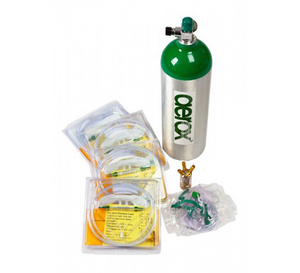 AEROX PORTABLE OXYGEN COMPLETE SETUP - 4 USERS - C CYLINDER