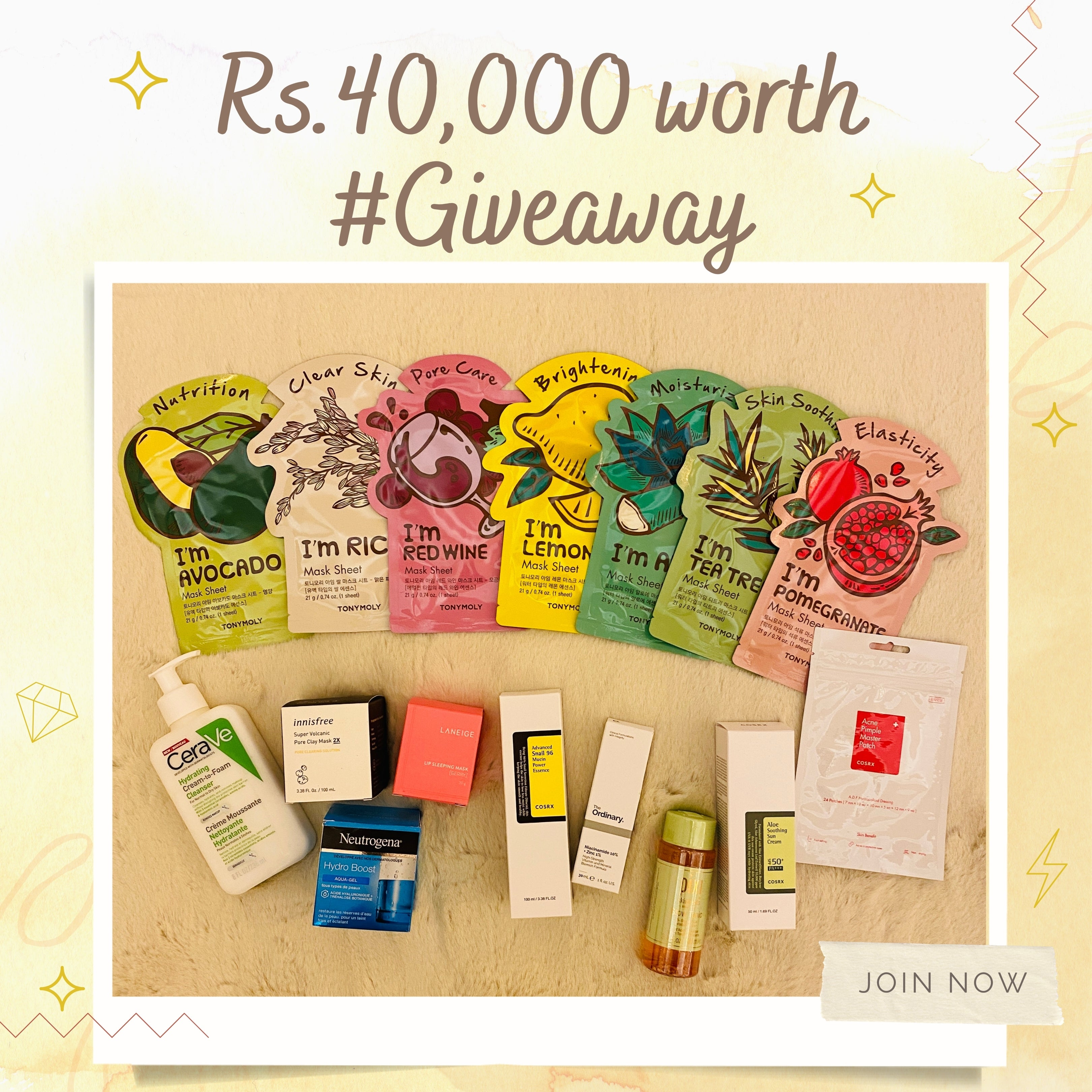 Rs. 40000 worth skincare giveaway at orion beauty sri lanka.