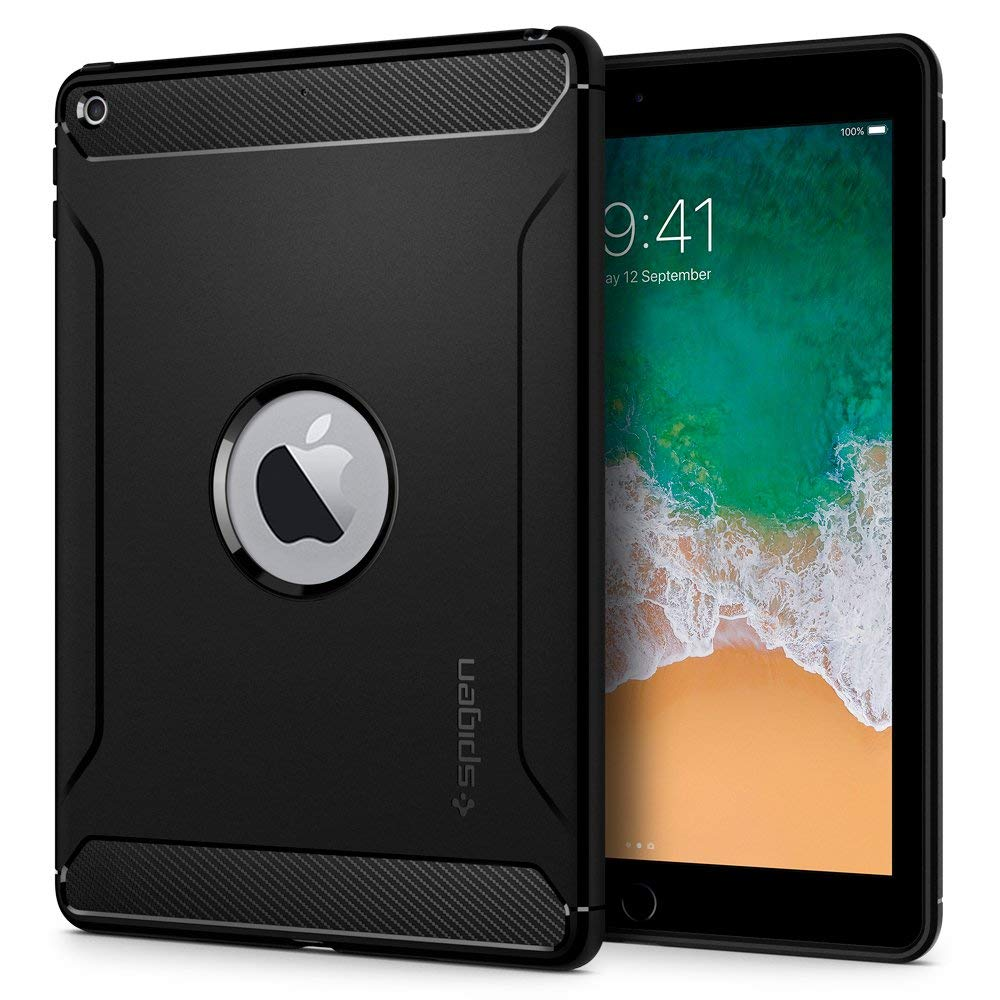 "Spigen iPad 9.7"" (2017 / 2018) Case Rugged Armor Black 053CS24120"
