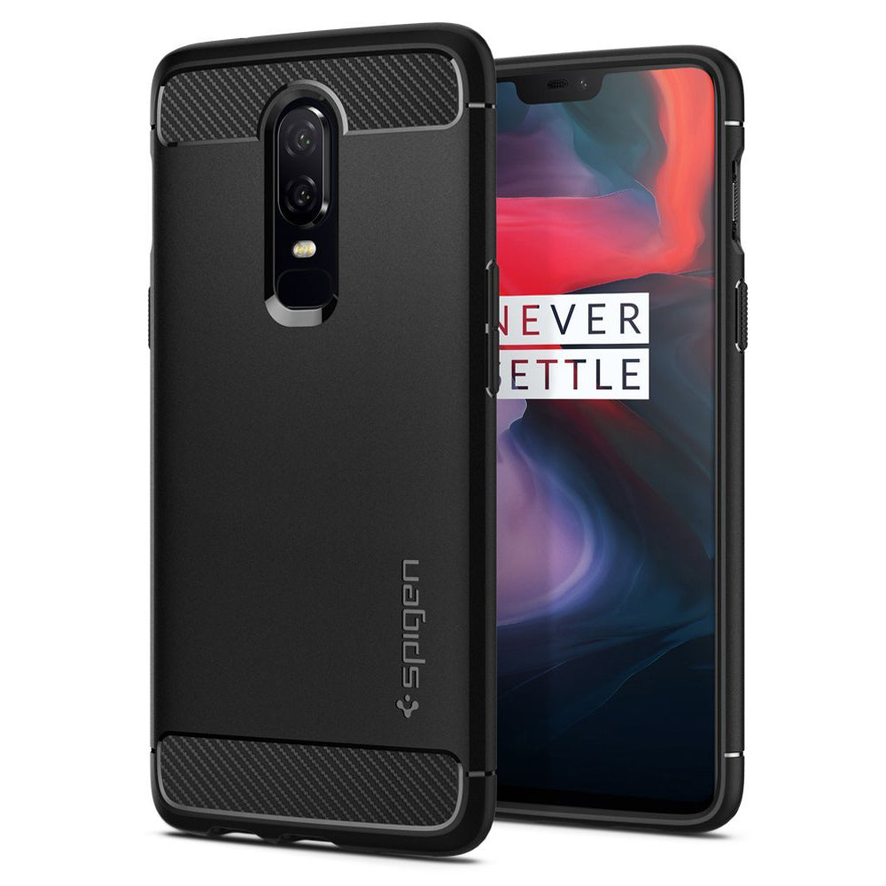 Spigen OnePlus 6 Case Rugged Armor Black K06CS23358