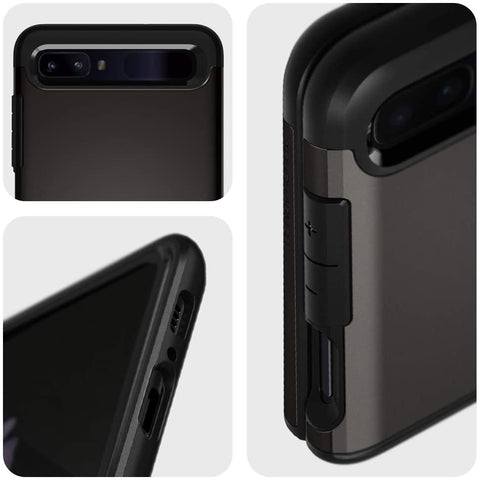 Spigen Galaxy Z Flip Case Tough Armor Gunmetal ACS01036