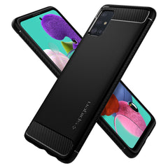 Spigen Galaxy A51 Case Rugged Armor Matte Black ACS00563