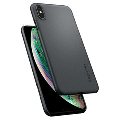 Spigen iPhone XS Max Case Thin Fit Graphite Gray 065CS24825