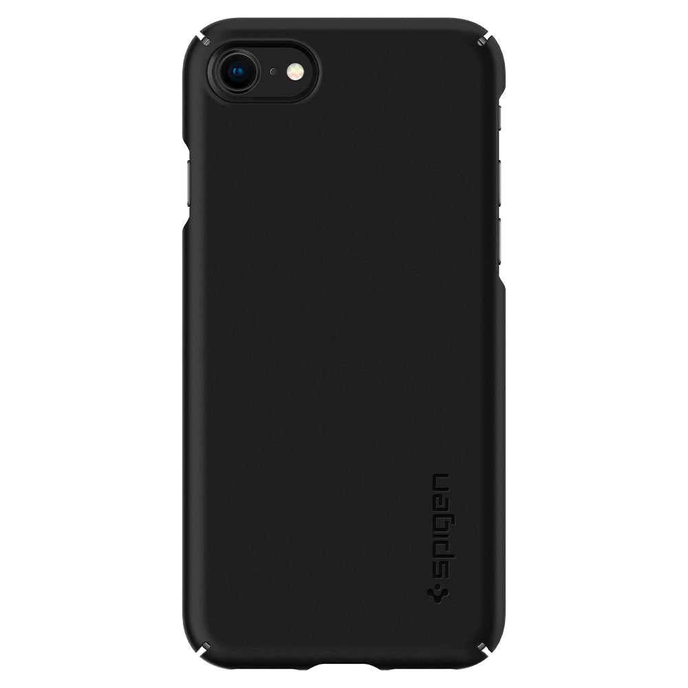 Spigen iPhone SE 2020 / iPhone 8 / iPhone 7 Case Thin Fit [2nd] Black ACS00940