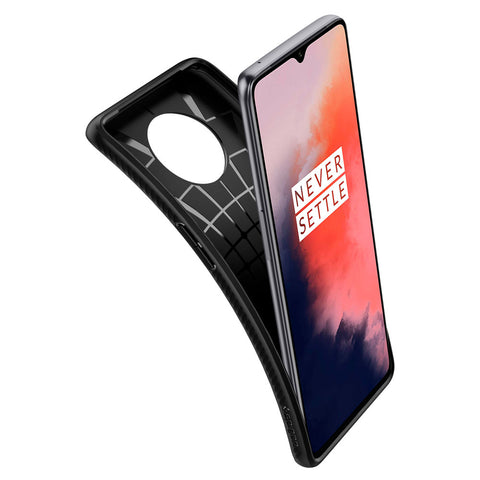 Spigen OnePlus 7T Case Liquid Air Matte Black ACS00317