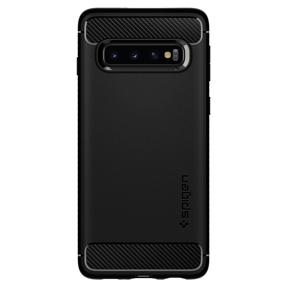 Spigen Galaxy S10+ Case Rugged Armor Matte Black 606CS25765