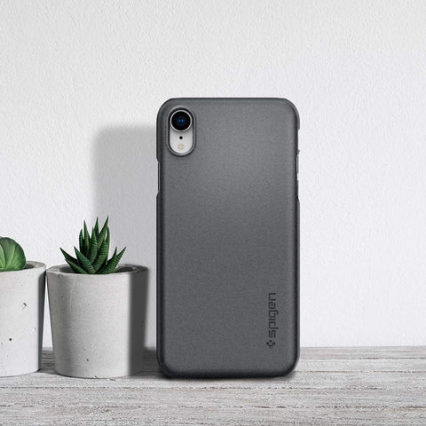 Spigen iPhone XR Case Thin Fit Graphite Gray 064CS24865