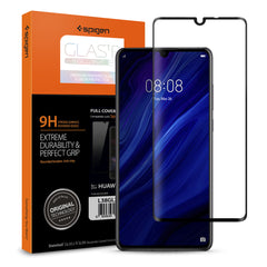 Spigen HUAWEI P30 Glass Screen Protector Glas.tR Slim Full Coverage Black (1Pack) L38GL26018