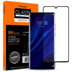 Spigen HUAWEI P30 Pro Glass Screen Protector Glas.tR Curved Black (1Pack) L37GL25745