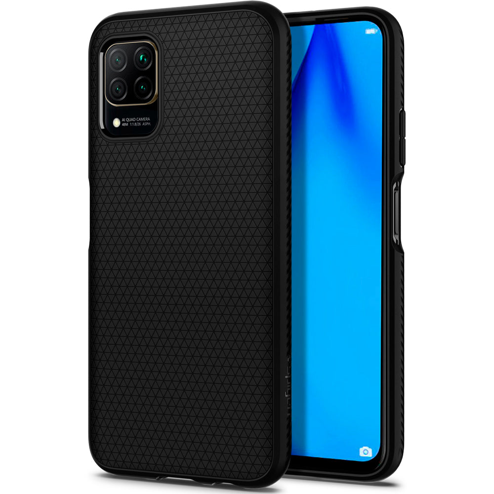Spigen Huawei P40 Lite (Nova 6 SE) Case Liquid Air Matte Black ACS00972