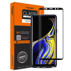 Spigen Galaxy Note 9 Screen Protector Glas.tR Curved HD Black 599GL24507