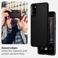 Spigen Galaxy S20 Case Liquid Air Matte Black ACS00791