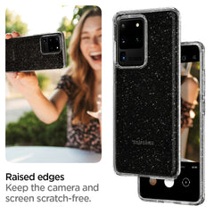 Spigen Galaxy S20 Ultra Case Liquid Crystal Glitter Crystal Quartz ACS00710