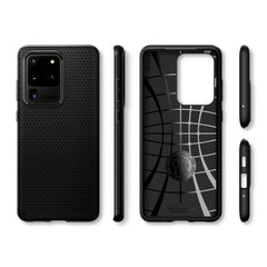 Spigen Galaxy S20 Ultra Case Liquid Air Matte Black ACS00712