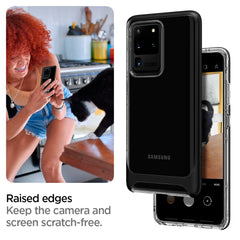 Spigen Galaxy S20 Ultra Case Neo Hybrid CC Matte Black ACS00720