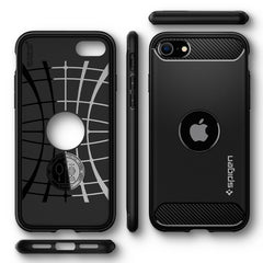 Spigen iPhone SE (2020) Case Rugged Armor Matte Black ACS00944