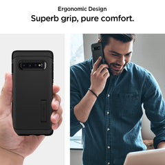 Spigen Galaxy S10+ Case Tough Armor Black 606CS25770