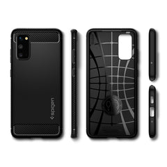 Spigen Galaxy S20 Case Rugged Armor Matte Black ACS00790