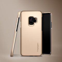 Spigen Galaxy S9 Case Thin Fit Maple Gold 592CS23187