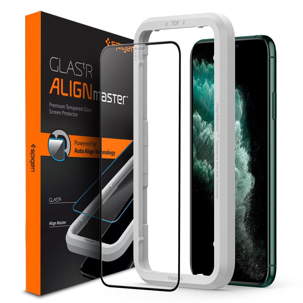 Spigen iPhone 11 / XR Screen Protector AlignMaster Full Coverage AGL00106