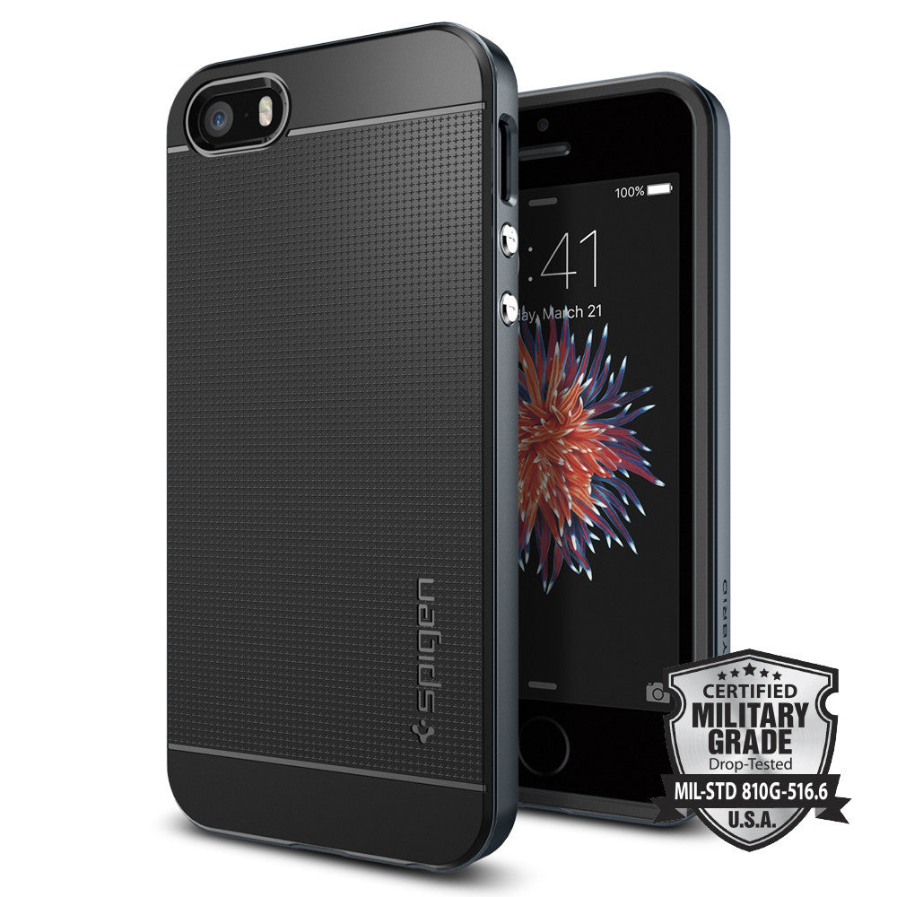 Spigen iPhone SE/5S/5 Case Neo Hybrid Metal Slate 041CS20253