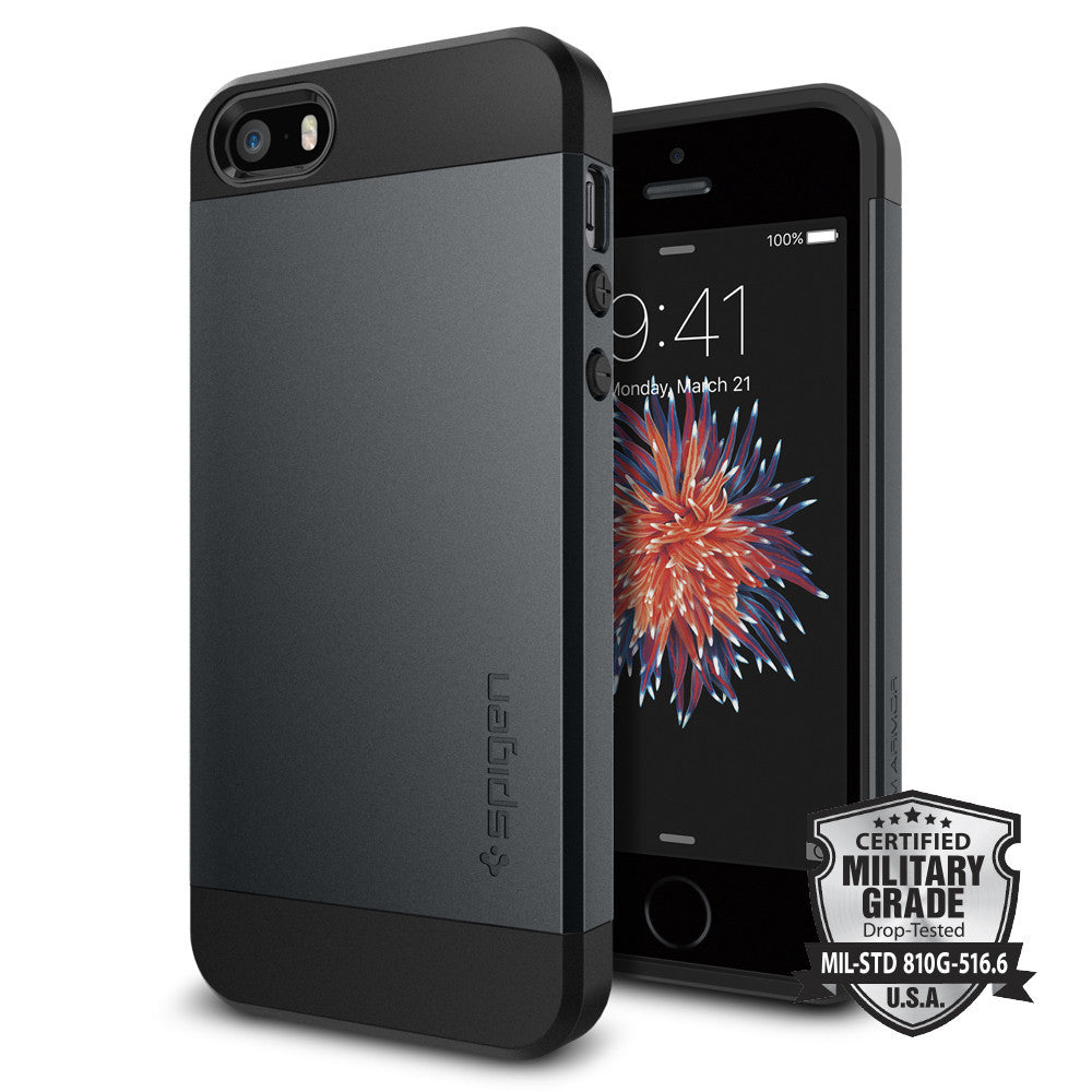 Spigen iPhone SE/5S/5 Case Slim Armor Metal Slate 041CS20174