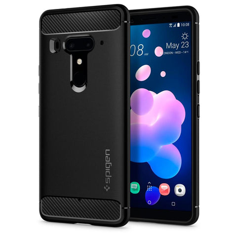 Spigen HTC U12+ Case Rugged Armor Black H12CS23356