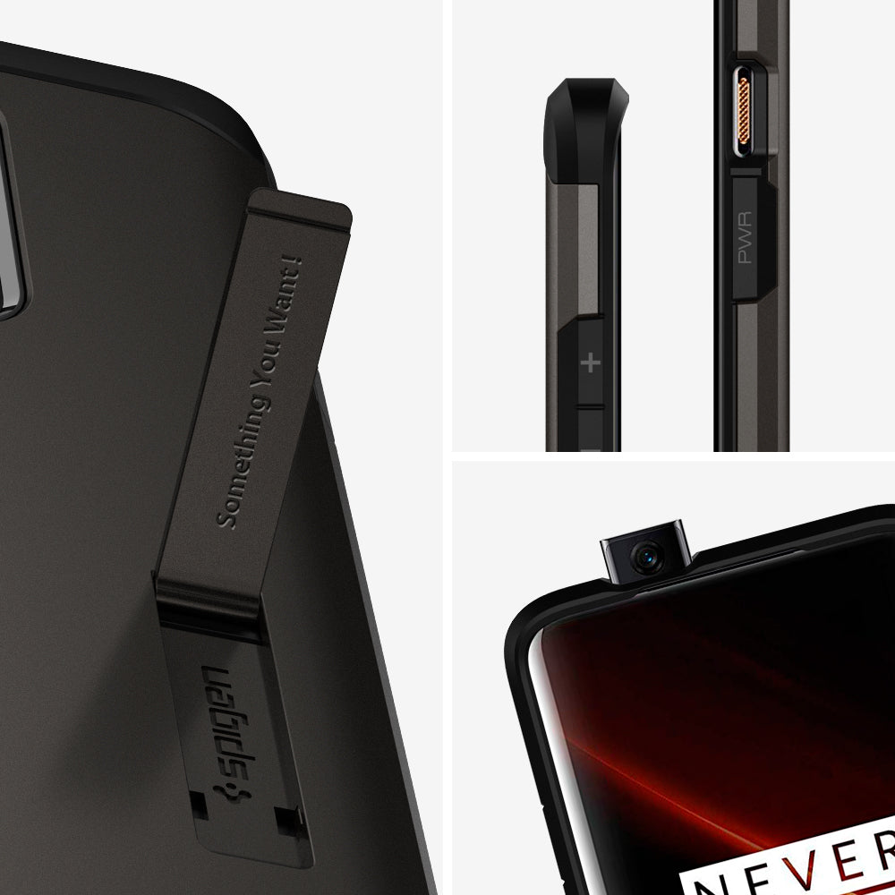 Spigen OnePlus 7T Pro Case Tough Armor Gunmetal ACS00315