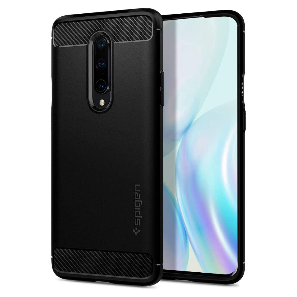 Spigen OnePlus 8 Case Rugged Armor Matte Black ACS00826