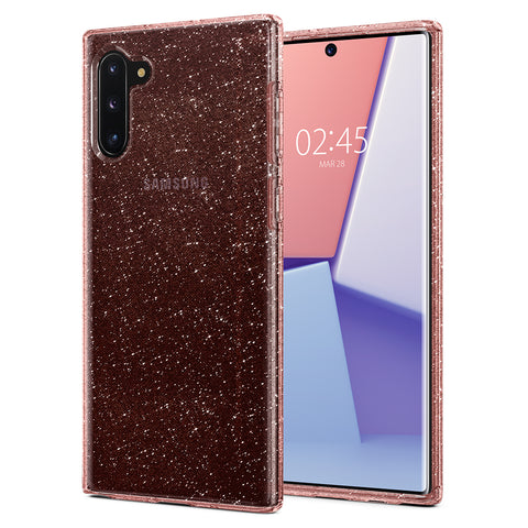 Spigen Galaxy Note 10 Case Liquid Crystal Glitter Rose Quartz 628CS27372