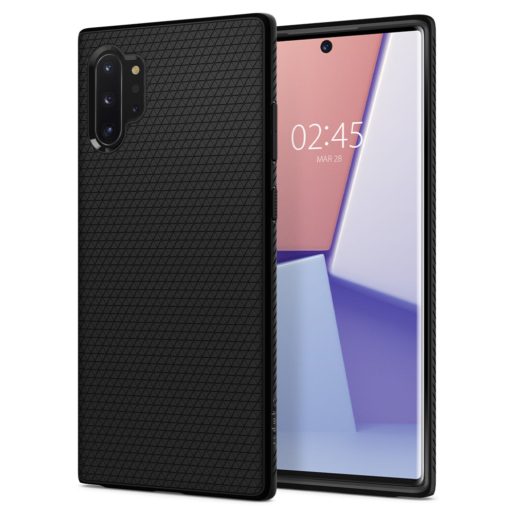 Spigen Galaxy Note 10 Plus Case Liquid Air Matte Black 627CS27330